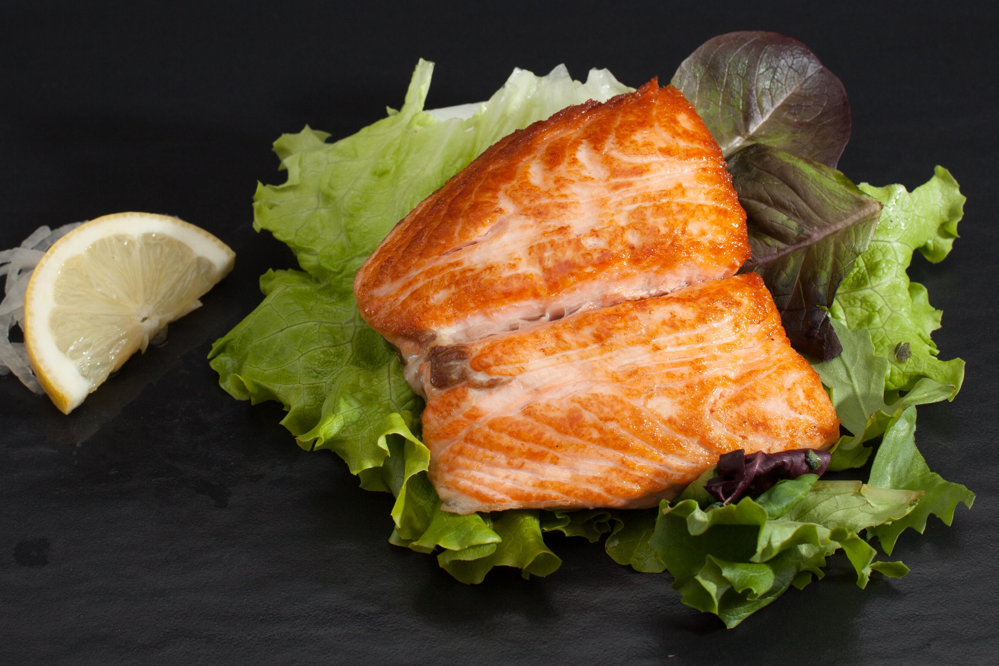 24 saumon teriyaki