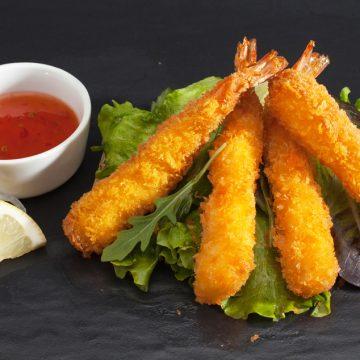 Rāmen avec 3 tempura de crevettes